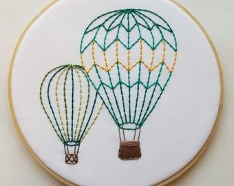Green Hot Air Balloons