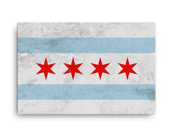 Chicago Flag, Chicago Flag Art, Chicago IL, Chicago Flag Wall Art, Chicago Flag Canvas, Chicago Flag Print, Chicago Flag Poster, Gifts