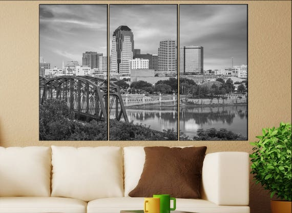 Shreveport, Louisiana  canvas wall art Shreveport wall decoration Shreveport canvas wall art art Shreveport large canvas wall art