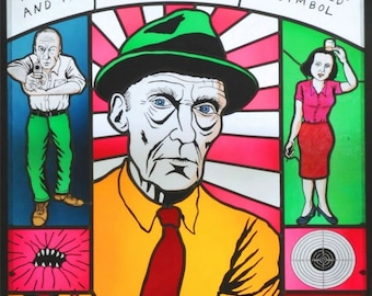 William S. Burroughs -stained glass canvas print