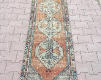 Runner rug oushak runner rug turkish runner vintage runner oushak runner vintage runner turkish rug 273x64ft/8'9x2'0
