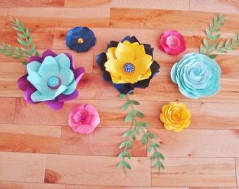 Set of 7 Small Paper Flowers - Baby Nursery Decor | Paper Flowers | Small Paper Flower | Home Decor | Paper Flower Backdrop | Nursery Decor