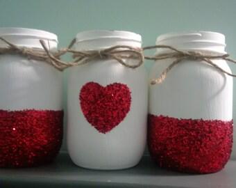 valentine's mason jar set