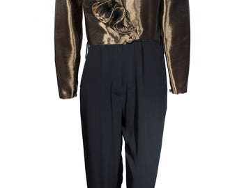 Vintage Cache Metallic Jumpsuit
