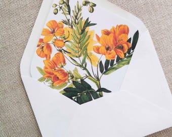 Botanical Envelope Liner Printable 5x7 Envelope Liner  5x7 Liner Printable Floral Envelope Liner Template Floral Envelope Liner download