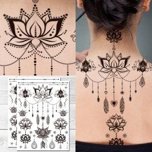 mandala tattoo etsy. Black Bedroom Furniture Sets. Home Design Ideas