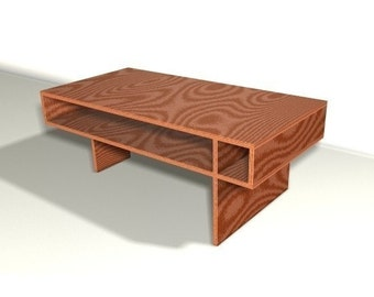 Modern Coffee Table Woodworking Plan
