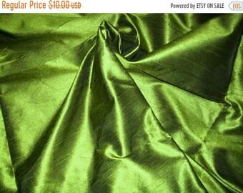 15% (TYFYP Sale) One yard of olive green dupioni silk blend