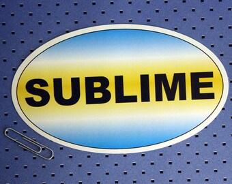 Sublime Oval Bumper Sticker