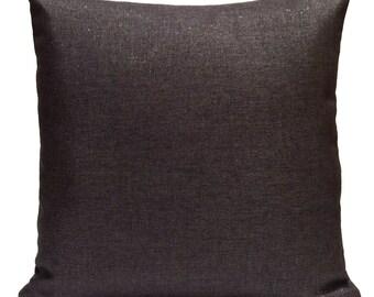Charcoal Pillow, Throw Pillow Cover, Decorative Pillow Cover, Cushion Cover, Pillowcase, Accent Pillow, Toss Pillow, Linen Blend, Sparkle