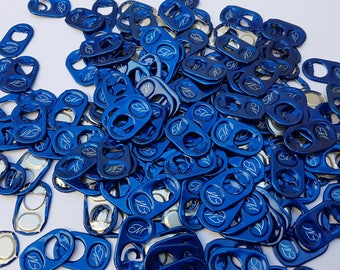100 capsules cans 1 hole washed blue color metal