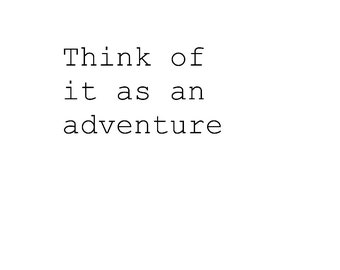 Think Of It As An Adventure Print Black And White Motivational Inspirational