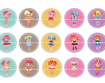 "LALALOOPSY 1 Inch Bottle Cap Image-  4"" X 6"" Digital Image- Instant Download"