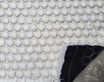 Japanese Quilted Dot Fabric by the yard