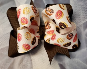 "6"" double stack donut boutique bow"