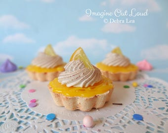 Fake Cake Tart Tartelette Mini Dessert Lemon Meringue  TRIO