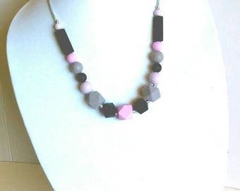 Silicone Teething Necklace for Mom to Wear - Black, Gray, Lavender, & Orchid - Baby Teething Necklace - Teething Toy - Baby Shower Gift