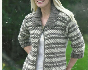 Ladies Sweater and Jacket pdf Knitting Pattern.
