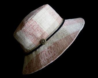 French Cotton Fabric Sunhat Summer Hat Cloche