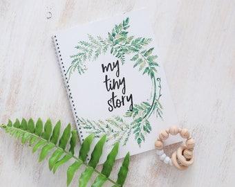 Baby Memory Book, Baby Keepsake Book, New Baby Journal, My Tiny Story, Minimalist Baby Book, Memory Baby Book, Baby Girl Journal, Baby Gift