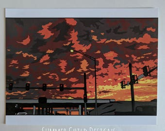 "The Morning Commute - 8.5"" x 11"" Art Print"