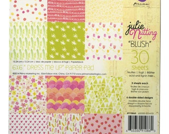 "Prima Marketing Double-Sided Paper Pad Blush 6""X6"" 30/Pkg,Double Sided Cardstock Sheets,Scrapbooking Pad,Card Making, Crafting, Paper Crafts"