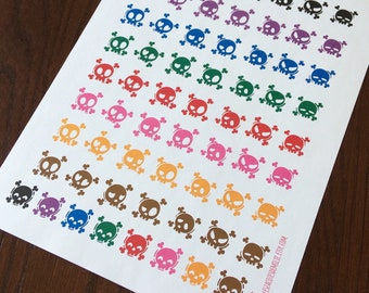 Set of mood stickers, different emotions, ideal for diaries or planners