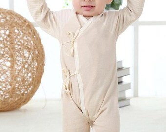 Baby Romper, Organic Baby Romper, Baby Bodysuit, Playsuit, Newborn Romper, 0-3 Months, 3-6 Months, Neutral Romper,Natural Romper, Super Soft