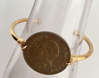Adjustable Cuff Bangle, Cuff Bracelet, Coin Bangle, Coin Bracelet