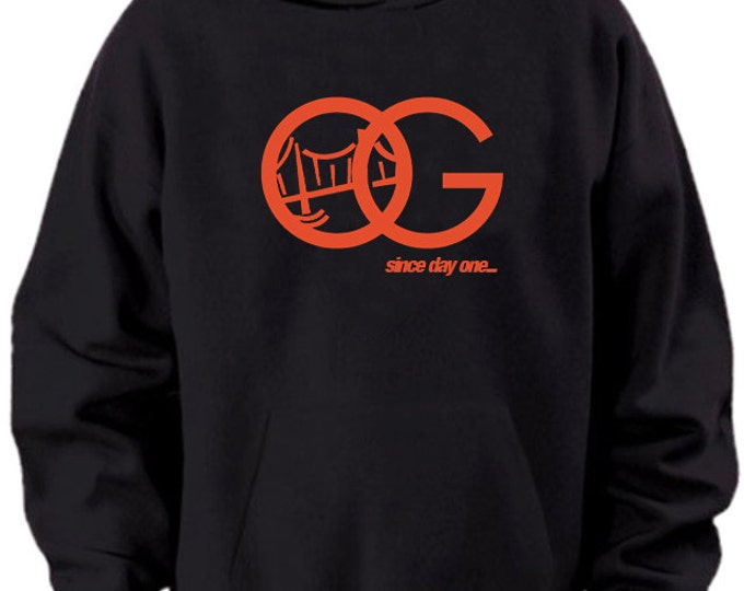 OG Since Day One SF Giants Black Orange Hoodie Sweater