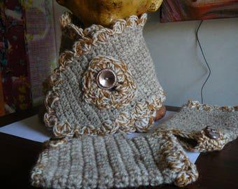 neck woman matching mittens