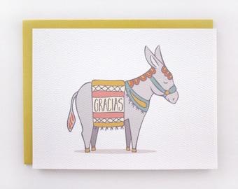 Gracias Donkey - Spanish Thank You Card
