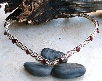 Silver and Garnet Red Arwen Circlet
