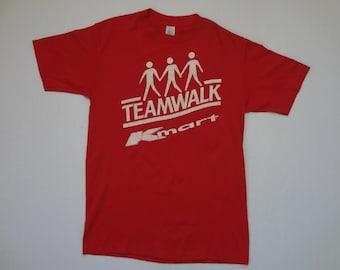 K-Mart Teamwalk T-Shirt Vintage 1980s L