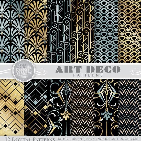 ART DECO Patterns 12 x 12 Art Deco Digital Paper