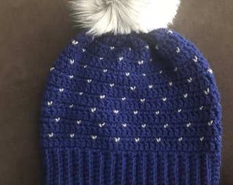 Crochet Snowfall Beanie