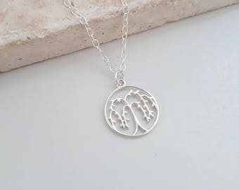 Sterling Silver Willow Tree Necklace, Willow Tree Pendant, Weeping Willow, Tree of Life, Tree Necklace, Woodland, Garden, Gift for Her