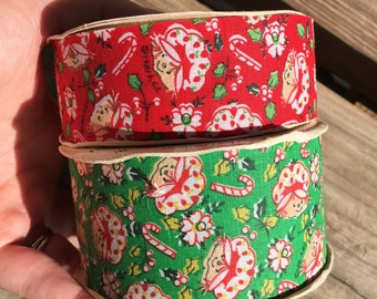 2 rolls vintage Strawberry Shortcake decorative ribbon