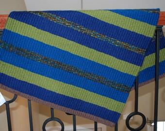 Handwoven Wool Rug, Wool Rug, Hand woven Rug, Handwoven Rug, Handwoven by Blind Sparrow
