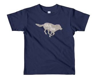 Feral and Free Kid's T-Shirt | Wolf Kid's T-Shirt | Wolf Kids Tshirt | Animal Kids Tee | Wild Child | Wolf |