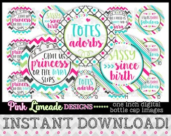"Totes Adorbs - INSTANT DOWNLOAD 1"" Bottle Cap Images 4x6 - 1012"