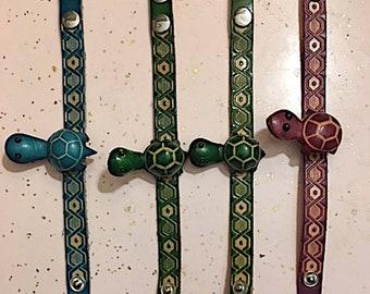 Leather animal bracelets