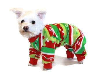Christmas Dog Pajamas-Christmas Pajamas-Pajamas for Dogs-Christmas Fleece Dog Pajamas-Dog Clothes-Dog Onesie-Christmas Onesie-Onesie for Dog