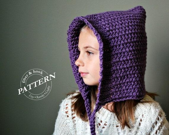 Crochet Pattern Ribbed Edge Pixie Hat Pattern 3 Sizes Easy