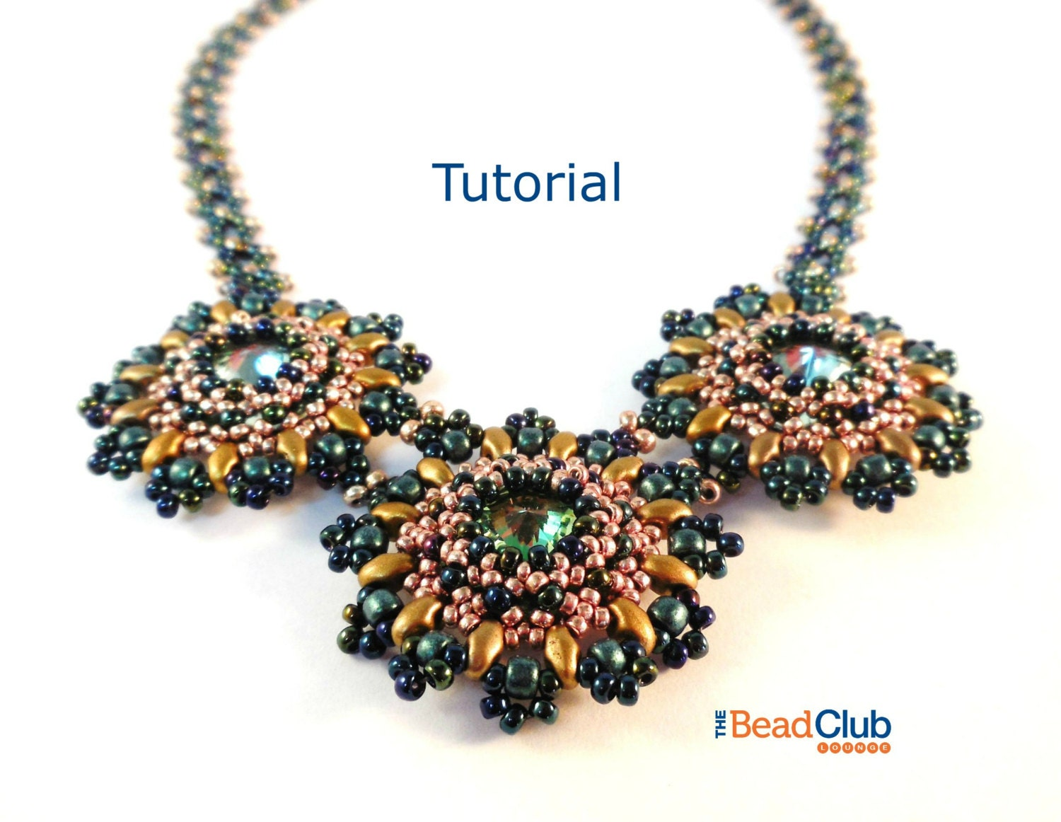 Beaded Necklace Patterns Right Angle Weave Rivoli Necklace