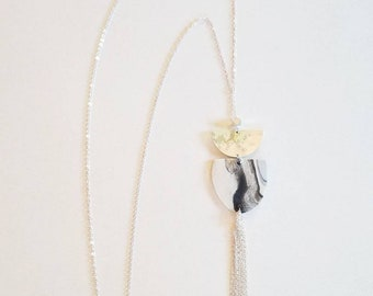 """The """"silver flow"""" necklace"""