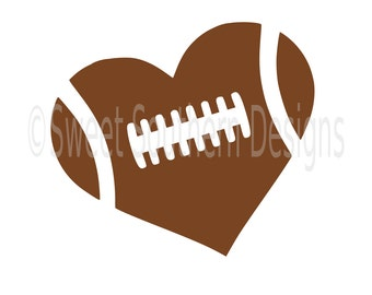 Football heart SVG DXF PDFinstant download design for cricut or silhouette