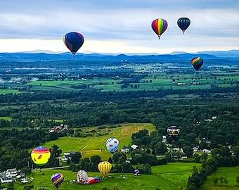 Balloon Photo, Balloon Ride, Balloon Festival, Landscape Print, Ballooning, Fine Art Photography, Balloon Print, Balloon Photograph