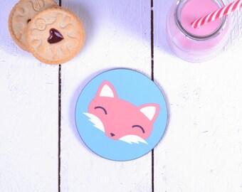 Cute Fox Coaster - Coaster Set