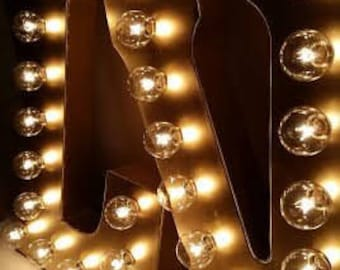 GOLD Galvanized Metal Marquee Light Letter- 21""